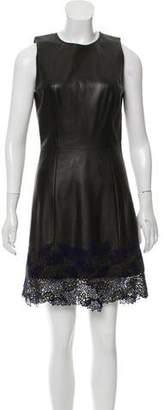 Jason Wu Lace-trimmed Faux Leather Dress