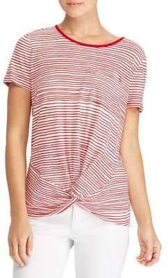 Lauren Ralph Lauren Striped Twist-Front Top