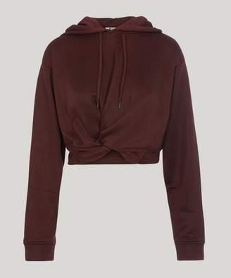 Alexander Wang Sleek Twist Front Hoodie