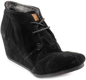 Toms Desert Wedge Synthetic Leather 10006247 Womens 6.5