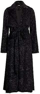 Cult Gaia Women's Aya V-Neck Jacquard Long-Sleeve A-Line Dress