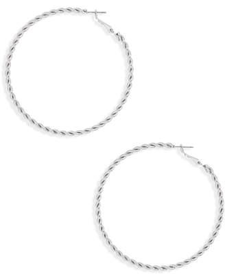 BP Twisted Hoop Earrings