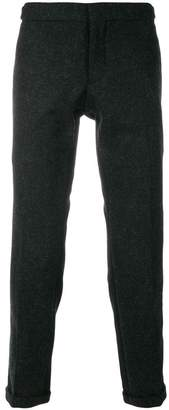 Thom Browne Grosgrain-Tipped Bicolor Skinny Trouser In Shetland Wool