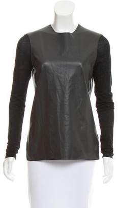 Helmut Lang Leather Panel Top