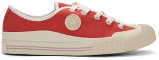 Acne Studios Red Bla Konst Tennis Sneakers