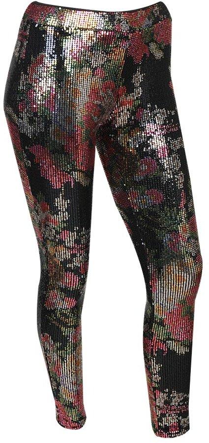 Floral Metallic Sequin Pant