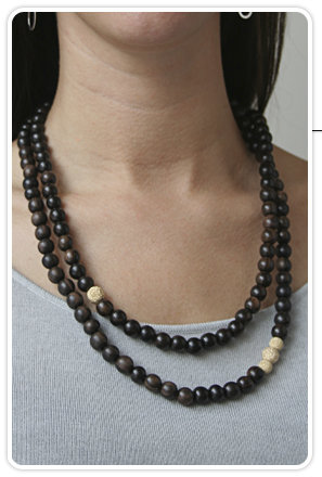 The Woods Double Wrap Ebony Necklace