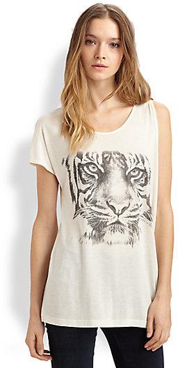 Haute Hippie Tiger-Print Jersey Tee