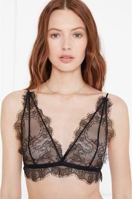 Anine Bing Delicate Lace Bra - Black