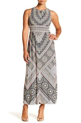 London Times Printed Maxi Dress (Petite)