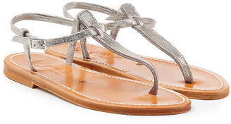 K. Jacques Metallic Leather Sandals