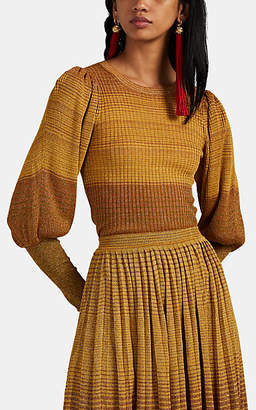 Ulla Johnson Women's Dax Metallic Striped Rib-Knit Top - Gold