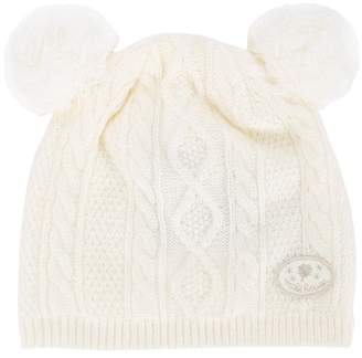Mikihouse Miki House cable-knit beanie hat