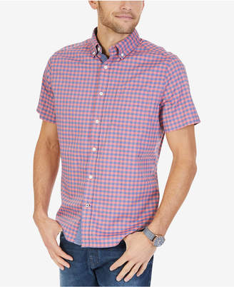 Nautica Men's Compass Plaid Stretch Shirt