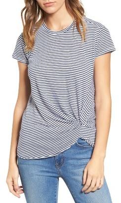 Women's Stateside Front Twist Stripe Tee $72 thestylecure.com