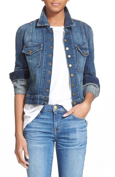 Current/Elliott 'The Snap' Stretch Denim Jacket