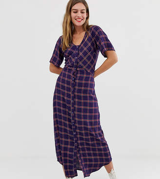 Wednesday's Girl maxi dress in grid check