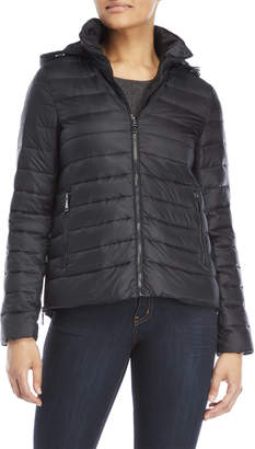 T Tahari Packable Hooded Down Puffer Jacket