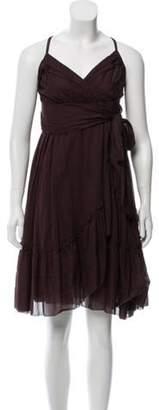 Diane von Furstenberg Sleeveless Midi Dress Brown Sleeveless Midi Dress