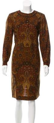 Oscar de la Renta Paisley Knee-Length Dress
