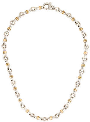 Tiffany & Co. Two-Tone Bar Link Chain Necklace $495 thestylecure.com