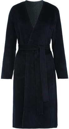 Vince - Reversible Wool And Cashmere-blend Felt Coat - Navy $750 thestylecure.com