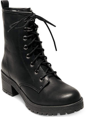 Madden Girl Eloisee Combat Booties Women's Shoes $69 thestylecure.com
