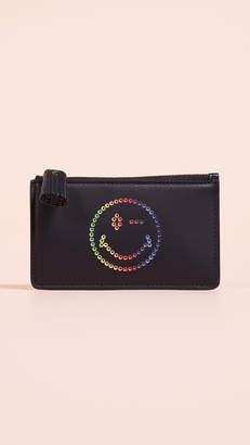 Anya Hindmarch Rainbow Wink Zip Card Key Case