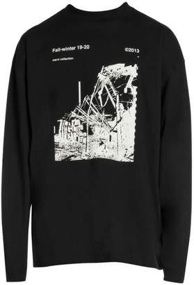 Off-White Off White OFF Ruined Factory Mock-Neck Sweatshirt