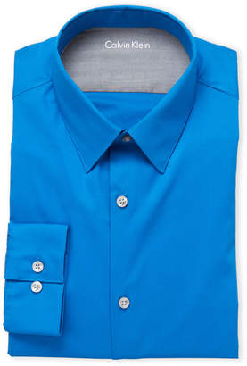 Calvin Klein Danish Blue Extreme Slim Fit Dress Shirt