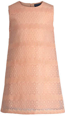 Andy & Evan Sleeveless Floral Lace Shift Dress, Size 2-6X