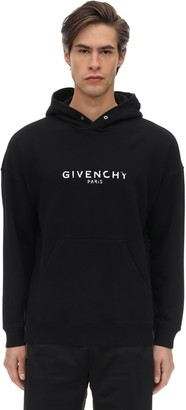 Givenchy Logo Cotton Jersey Sweatshirt Hoodie