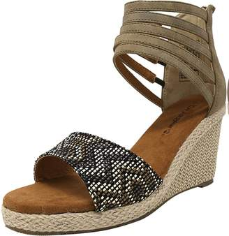 BearPaw Women's Calla Ankle-High Leather Wedged Sandal - 7M
