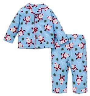 Little Me Little Boy's Two-Piece Santa Pajama Top & Pants Set