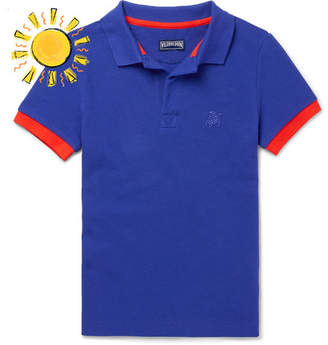 Vilebrequin Boys Ages 2 - 12 Contrast-tipped Cotton-piqué Polo Shirt