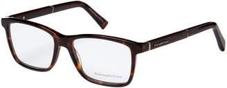 Ermenegildo Zegna EZ5012 Dark Tortoiseshell-Look Rectangle Optical Frames