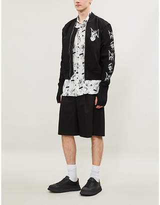 Burton MJB - MARC JACQUES Graphic-print satin bomber jacket