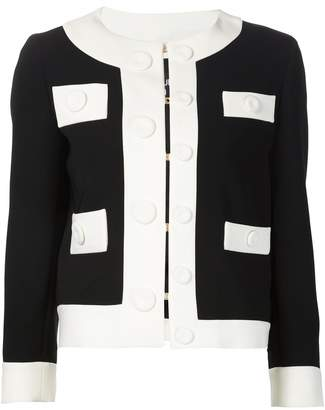 Moschino monochrome cropped jacket