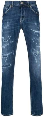 Dondup distressed denim mid rise jeans