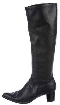 Delman Leather Knee-High Boots