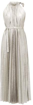 A.W.A.K.E. Mode Oyster Halterneck Midi Dress - Womens - Silver
