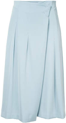 TOMORROWLAND wrap front pleated skirt