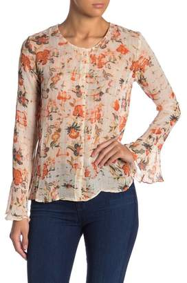 Raga Kate Floral & Metallic Stripe Blouse