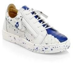 Giuseppe Zanotti Paint Splatter Leather Sneakers