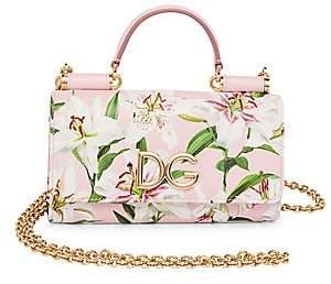 Dolce & Gabbana Women's Lilium Leather Top Handle Phone Bag