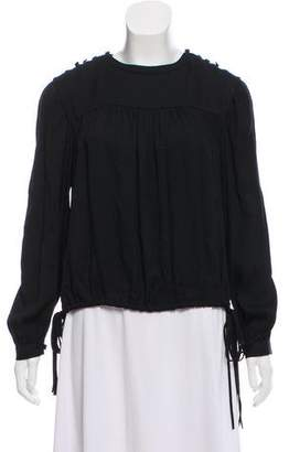Etoile Isabel Marant Pleated Long Sleeve Blouse