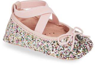 Jessica Simpson Glitter Mary Jane Crib Shoe