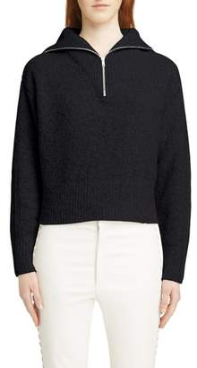 Isabel Marant Fancy Half Zip Wool & Cashmere Blend Sweater