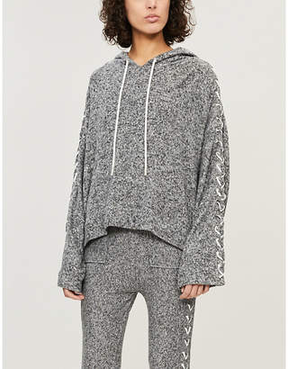 The Kooples Lace-up sleeve knitted hoody