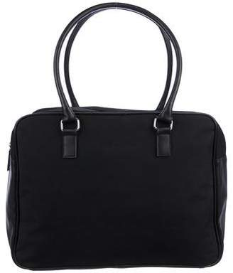 Calvin Klein Leather-Trimmed Canvas Tote
